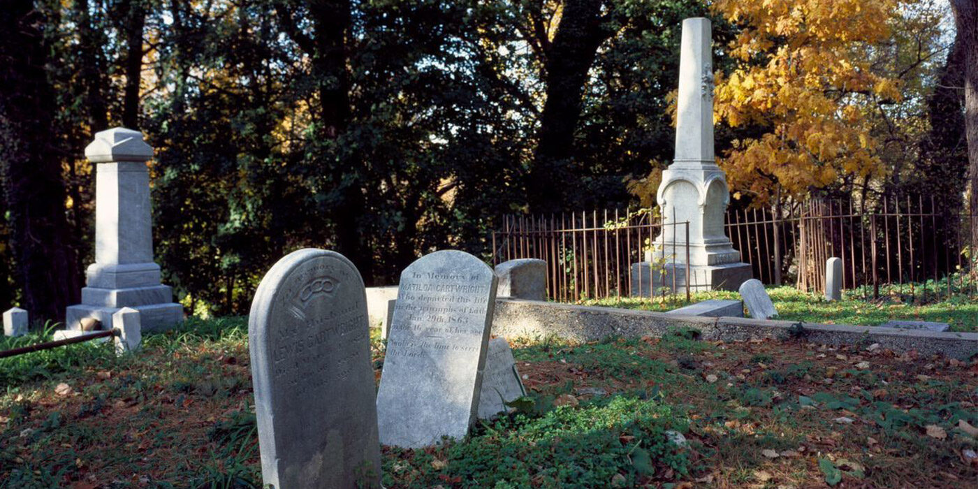 Slave cemetery in the Georgetown neighborhood, Washington, D.C.
