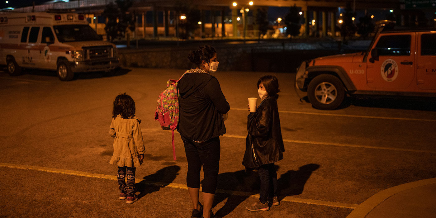 A Guatemalan asylum seeker and her two daughters are expelled from the U.S. into Ciudad Juarez under the CDC's Title 42 order, April 2, 2020.