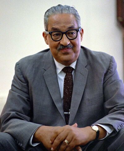 Thurgood Marshall in the White House, June 1967, the year he was appointed to the U.S. Supreme Court.