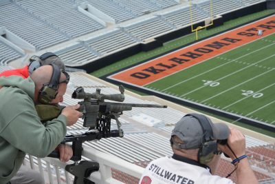 Police snipers at a 2018 training inside Oklahoma State University's Boone Pickens Stadium.
