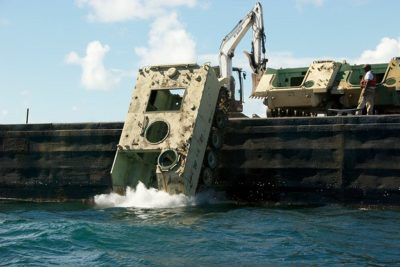 Decommissioned military equipment is strategically dropped off the coast of South Carolina.